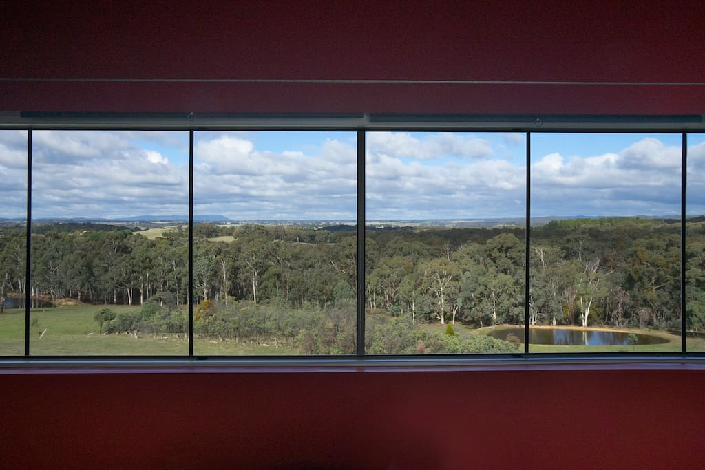 A modern home boasting wall to wall windows with picturesque Australian bush views!