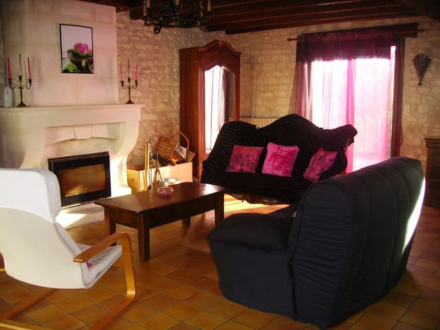 A charming cottage in Brenne - Saint-Genou - Casa