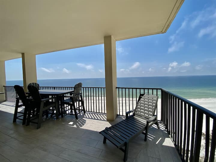Direct Gulf Front 3/3 Penthouse in Orange Beach. The Palms 1016B