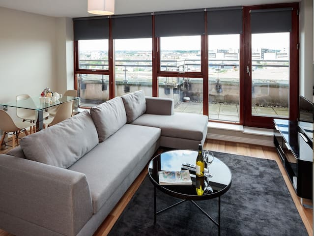 CLOSE TO IFSC-LUXURY 2BR-1BA APT IN DUBLIN-1