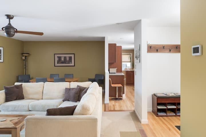 Modern, spacious home - just a short walk to town