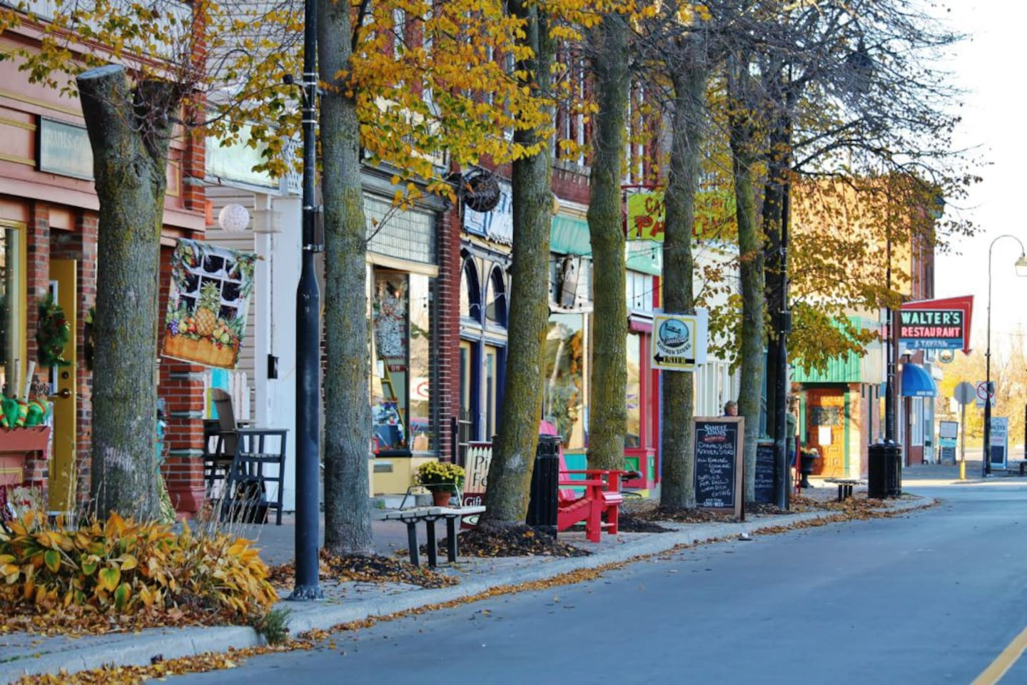 Downtown shops on West Street. Delicious food and amazing finds!