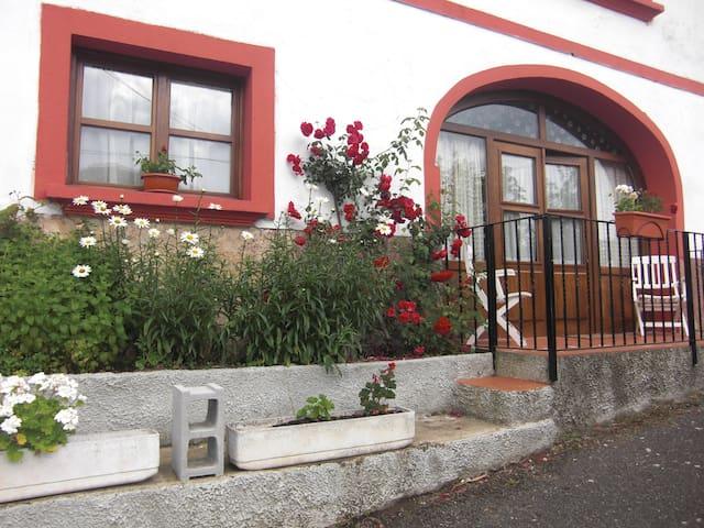 terraza de la galería con acceso al jardín