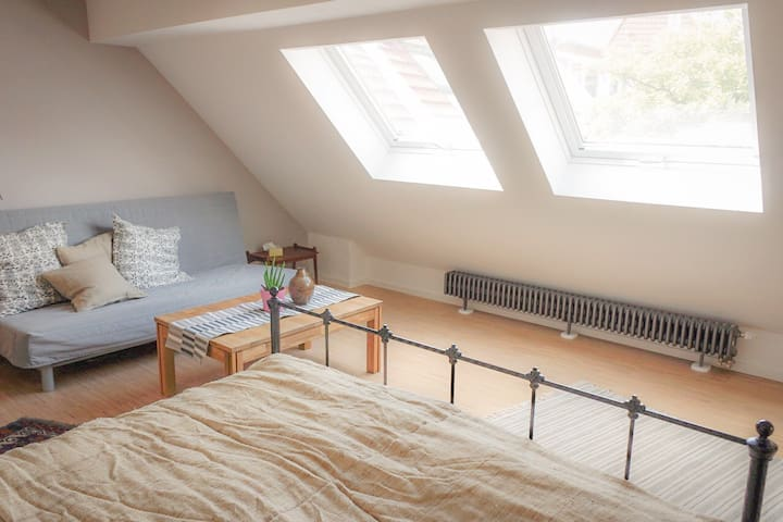 Attic studio with sauna – marvellously located