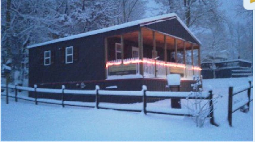 Winter view of Cottage C