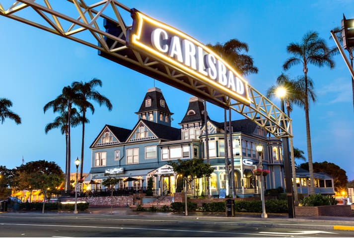Carlsbad 1 mile up coast great shopping village