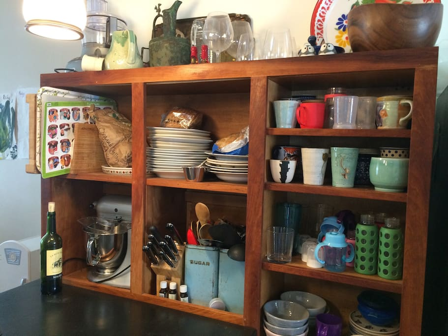 Kitchen is stocked with everything you need!