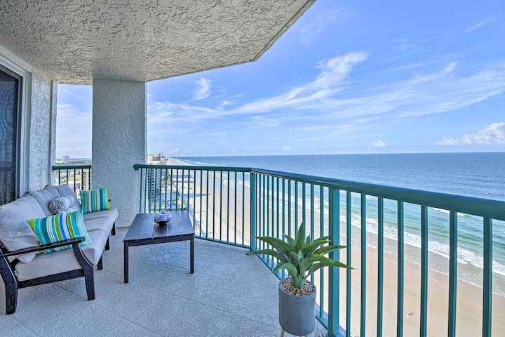 NEW! Luxe Daytona Beach Resort Retreat w/ Views!
