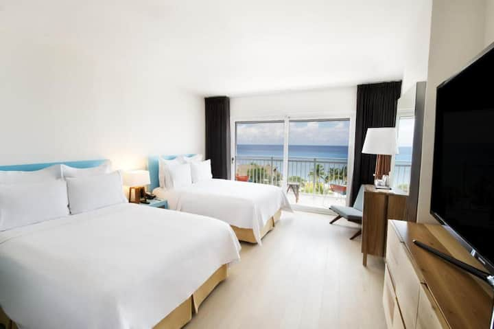 Sunny Room Ocean View Double Bed At Cozumel