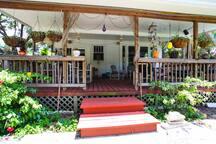 Large, quiet back porch