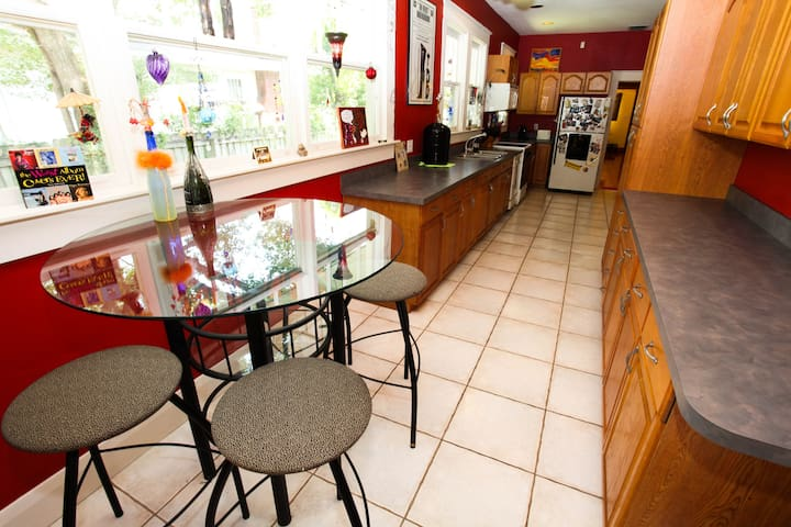 Full use of very spacious kitchen