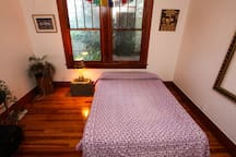 Private bedroom with queen size memory foam mattress