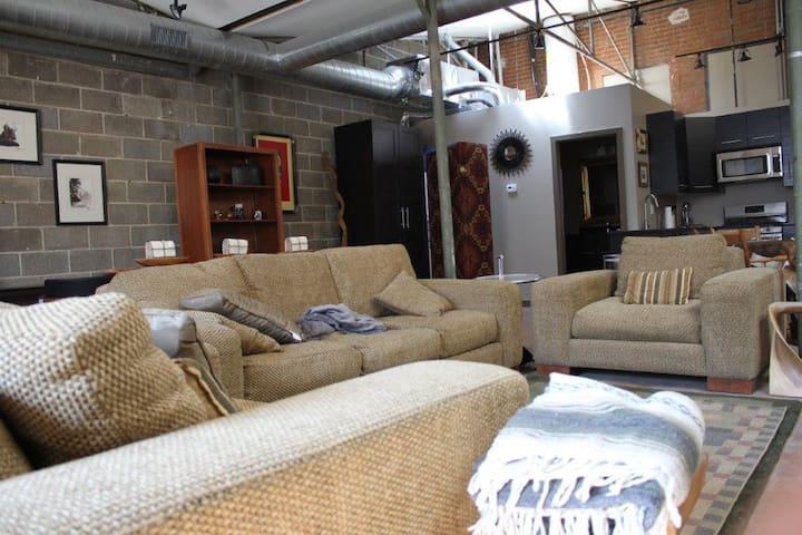 Large open Loft with custom furniture