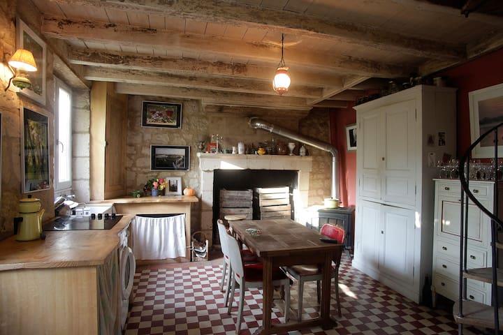 Maison de village à Candes St Martin - Candes-Saint-Martin - Casa