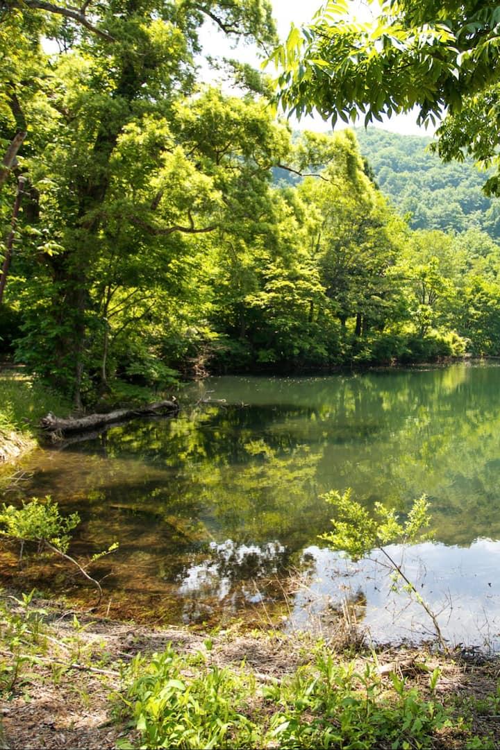Hike to beautiful lakes.
