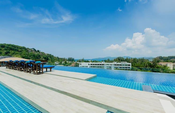 Cozy quiet studio in Apart-hotel with 3 Swimming Pools ❤️ Surin beach (304)