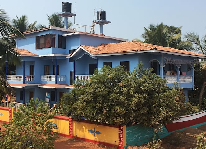 Beach Touching 2 BHK Apartment in Morjim Goa - Morjim - Apartment