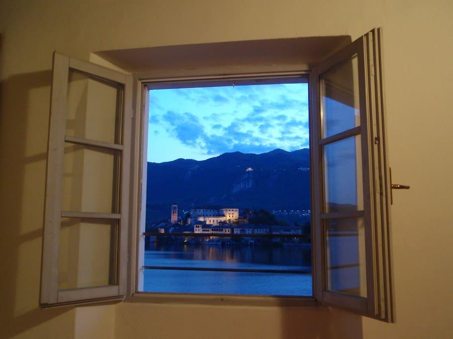 La finestra della camera da letto