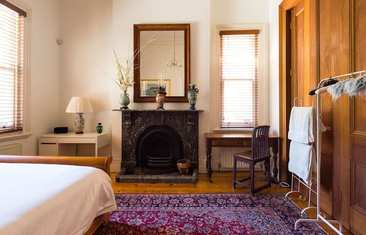 This is a bedroom downstairs with a bathroom directly opposite the room. There is no need to go upstairs - perfect for people who have difficulty using the stairs.