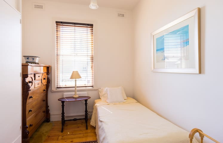 This is the single bedroom that is not always available to guests as it is used for storage.