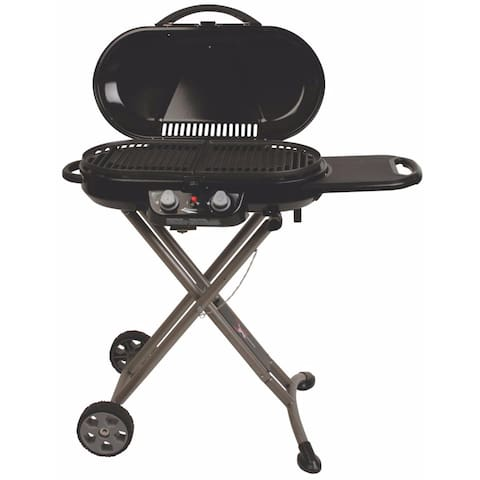 2 Burner Portable Coleman gas grill stored in shed and Gas Bottles for your use.