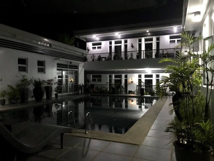 Evening photo of the Olive Tree Villa in Tagaytay.