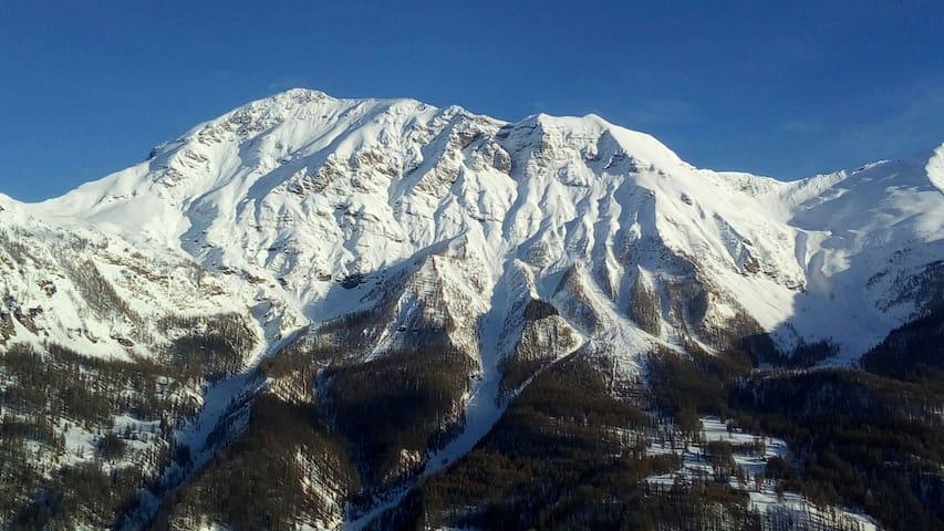 Panorama sur parc des Ecrins montagnes & 3 Vallées
