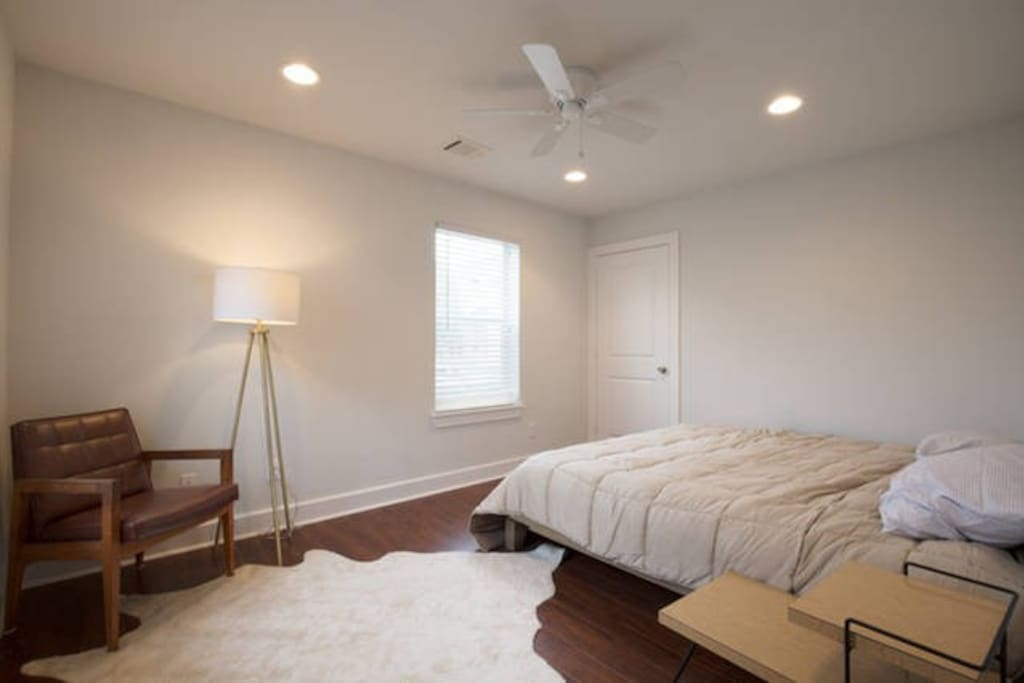 Private bedroom includes king bed