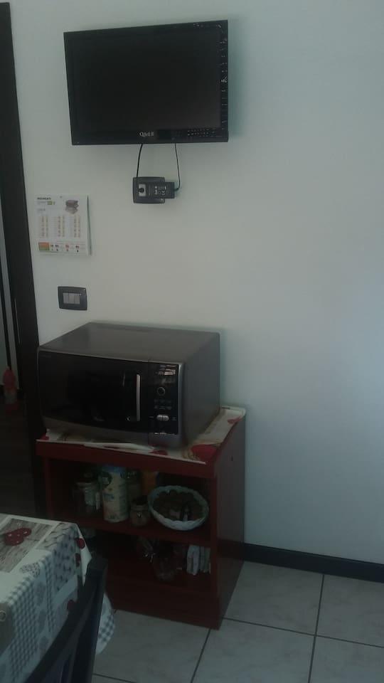 Tv cucina a muro