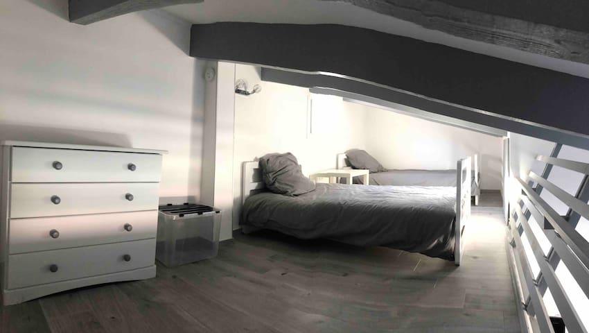 Mezzanine deux lit simple