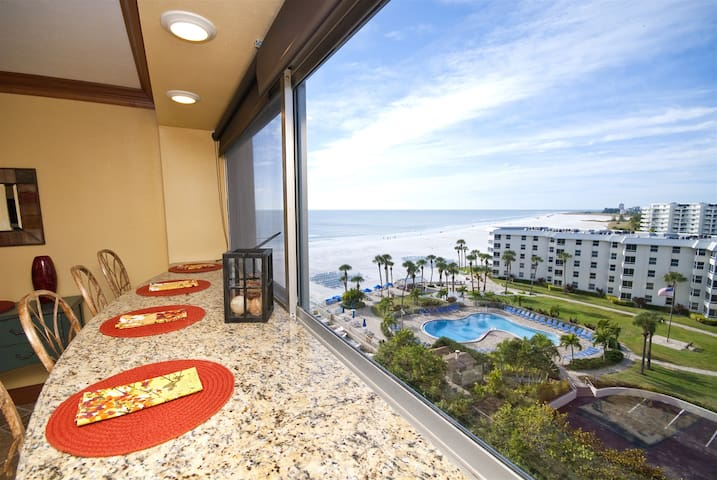 REZRentals - Palm Bay Club # 84 Tower- 100% Renovation 1 Bed / 1 Bath - Direct West and North Views of Gulf !