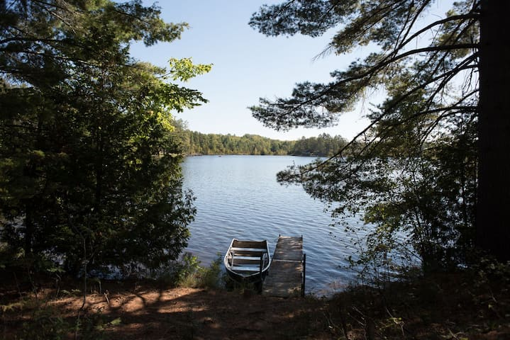 THE PHOEBE--Nettie Bay, MI: Sleeps 2-4, private dock, 14' rowboat included, swim on property, screened-in porch, ATV friendly