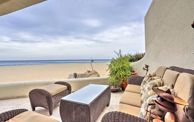 ~ Beach Front Awakening ~ Ocean front at Terrasol