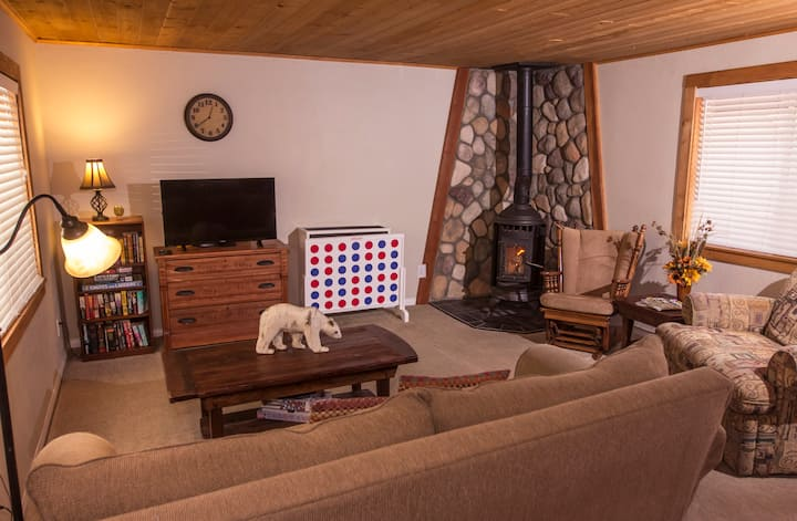 Cozy, rustic, fun and relaxing cabin-Dog friendly!