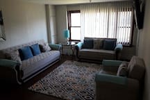 Couch and love-seat both pull out