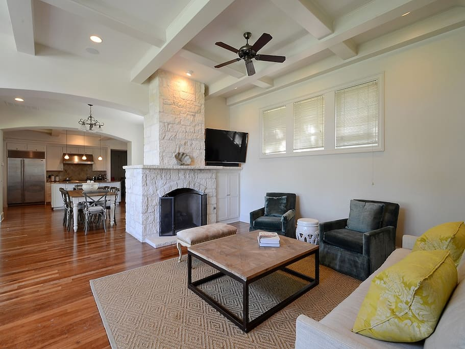 Large living areas with lots of seating.
