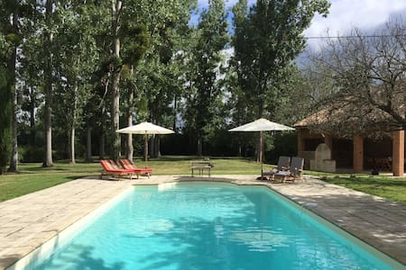 Water mill retreat with private heated pool
