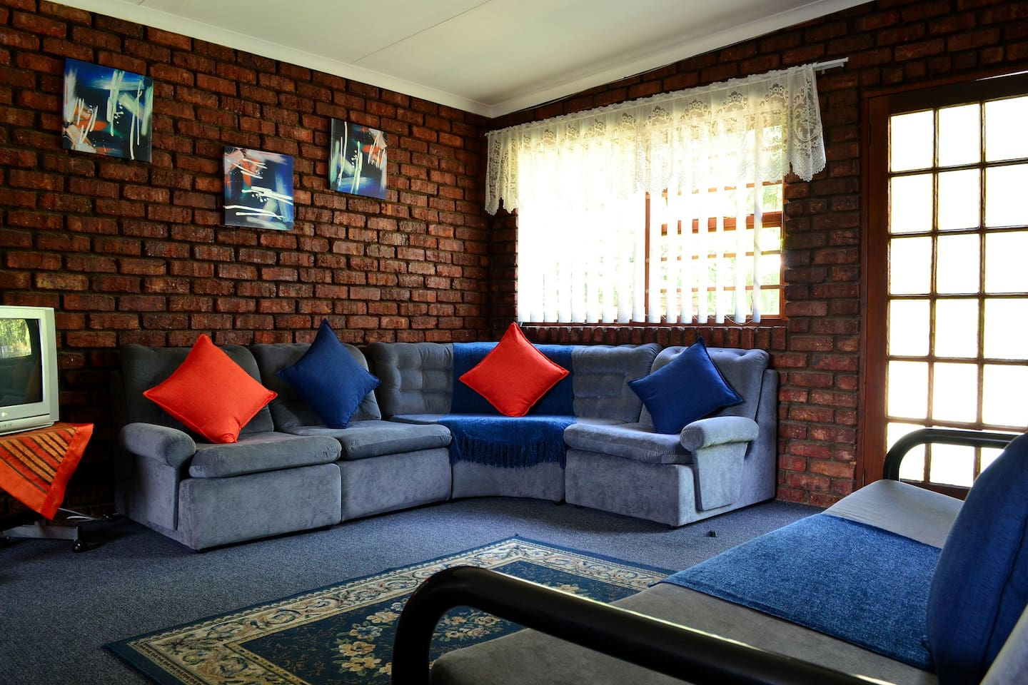 Lounge area in the self catering unit