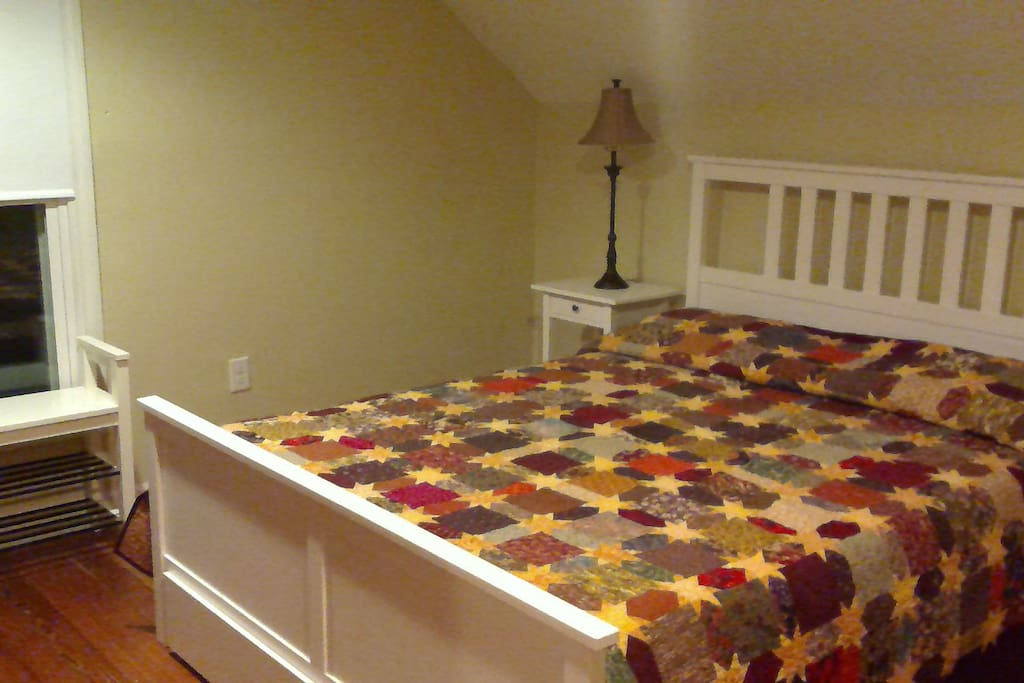 Your room - new mattresses, old quilts