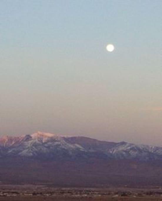 Moon over Mount Charleston