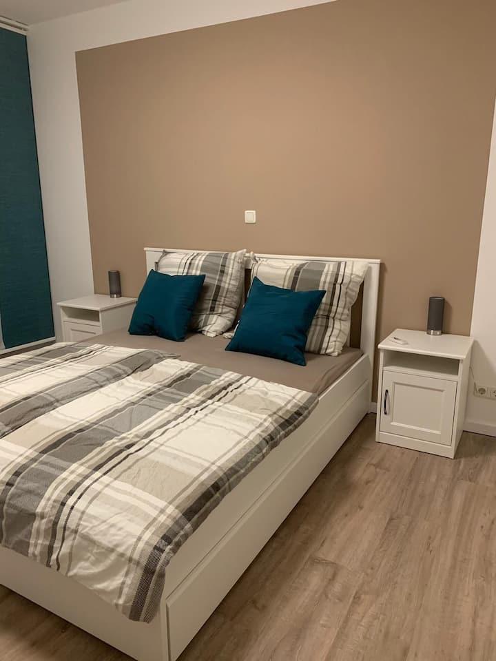 Moderne 50qm  Erdgeschosswohnung für 1-4 Personen