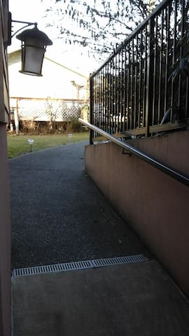 Front entrance - ramp