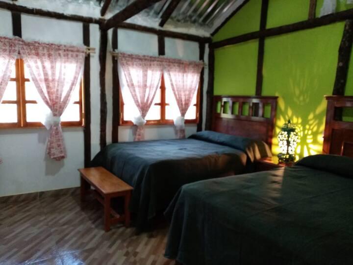 Paraíso en la Huasteca Potosina, cabaña verde