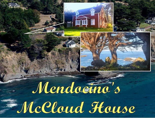 Mendocino's Historic McCloud House Headland Views on the Edge of the Village