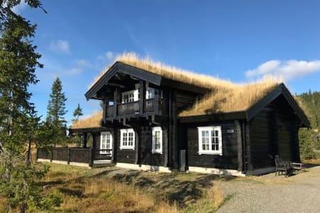 Spacious modern log-cabin at Sjusjøen. - Ringsaker