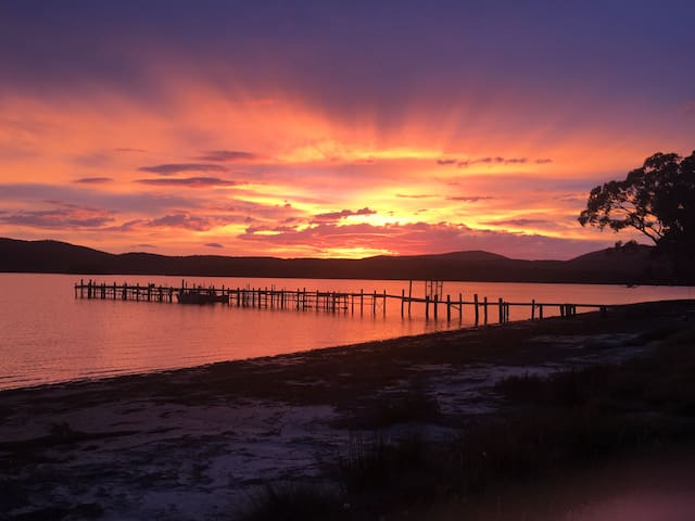 Sunrise over Carnarvon Bay