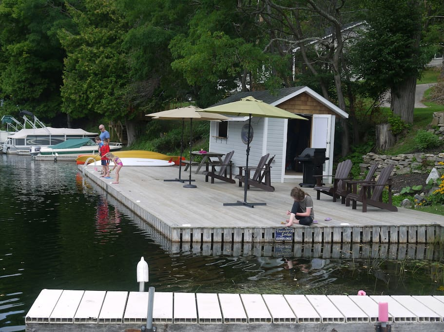 Dock with bar and serving window