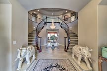 The entryway welcomes you inside this incredible home.