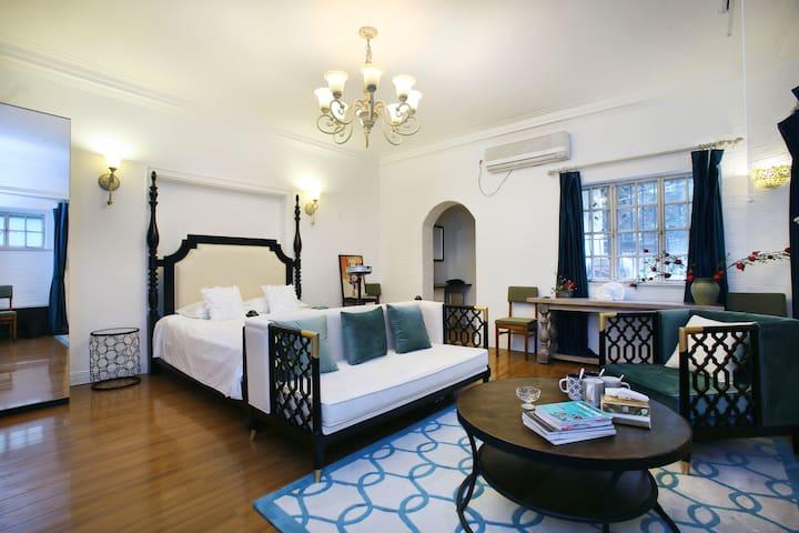 「翡冷翠花园·Emerald」衡复文化区中心复古洋房 /花园大床房HD projection