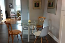 Dining room; table seats 4-6